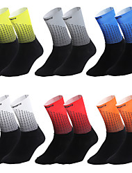 cheap -Men's Women's Athletic Sports Socks Running Socks Cycling Socks Compression Compression Socks Breathable Limits Bacteria Reduces Chafing Black / Yellow White Red Road Bike Fitness Mountain Bike MTB