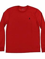 cheap -mens long sleeve performance t-shirt (black, l)