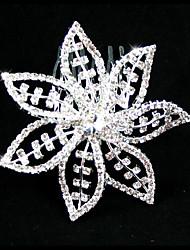 cheap -Rhinestone / Alloy Headdress with Rhinestone 1 PC Wedding Headpiece