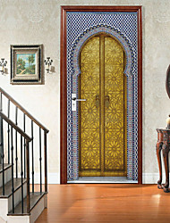 cheap -Classic Islamic Self-adhesive Creative Door Stickers For Living Room DIY Decorative Home Waterproof Wall Stickers