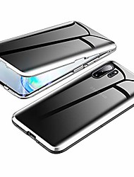 cheap -anti-spy case for samsung galaxy note 10+ 5g,  360 degree front and back privacy tempered glass cover, anti peeping screen, magnetic adsorption metal bumper for galaxy note 10 plus (silver)