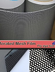 cheap -Black One Way Vision Fly Eye Tint Perforated Mesh Film Car tint Window Tint Car wrap film sticker Motorcycle Scooter Decals