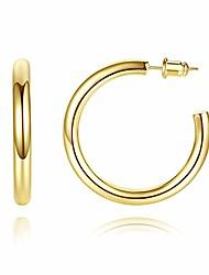 cheap -gold hoop earrings | 4mm thick gold hoops | 14k gold hoop earrings for women