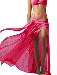 cheap -women's sexy gauze beach maxi skirt black