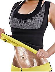 cheap -waist trainer hot sweat quick weight loss neoprene shirt vest body shapers (medium, black)