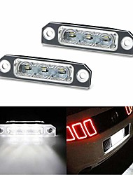 cheap -oem-fit 3w full led license plate light kit compatible with 2011-14 ford mustang, 2009-18 ford flex, 2008-17 ford focus, powered by 3-piece osram xenon white led
