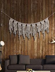 cheap -Hand Woven Macrame Wall Tapestry Bohemian Boho Art Decor Hanging Wedding Backdrop Home Bedroom Living Room Decoration Nordic Handmade Tassel Cotton