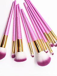 cheap -New 10 Pcs makeup brush Cherry powder quicksand makeup brush makeup tools set full set
