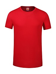 cheap -Unisex Plus Size Tops Cotton Black Red