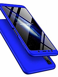 cheap -for samsung galaxy a70 case ultra slim 2 in 1 shockproof 360°full body front back hard pc plastic anti-scratch cover compatible with samsung galaxy a70,2in1 pc - blue