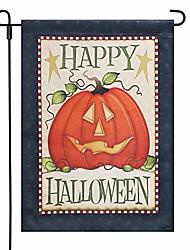 cheap -12.5x 18 inch home garden flag house double sided happy halloween pumpkin (13 x 18 inch)