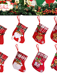 cheap -Christmas Toys Christmas Decorations Christmas Tree Ornaments Wall Decals Christmas Stockings Merry Christmas Party Favor For Living Room Bedroom Fabric 8 pcs Kids Adults 16*12cm Christmas Party