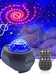 cheap -Starry Sky Galaxy Projector Bluetooth Built-in Speaker USB Remote Control Music Player LED Night Scape Light Gift Projection Lamp for Bedroom Kids Children Bedside Lamp