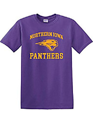 cheap -| northern iowa one color t-shirt | university of northern iowa panthers logo apparel mens/womens t-shirt (purple, medium)