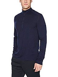 cheap -men's mens 200 oasis ls half zip, midnight navy, s