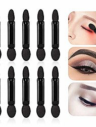 cheap -100pcs Disposable Double-head Sponge Eye Shadow Brushes Beauty Cosmetic Tools Can Make Your Eyebrows Smoother and Shaper Black