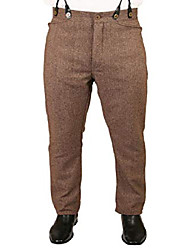 cheap -men's herringbone tweed dress trousers 50 brown