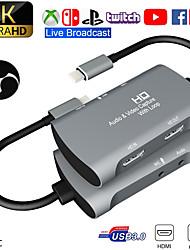 cheap -Tarjeta De Captura De Vdeo USB 1080 a HDMI Dual 4K P 60fps PS4 XBOX Game Audio En Vivo Youtube Transmisin En Facebook