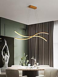 cheap -80cm LED Pendant Light Modern Nordic Simple Island Light Living Room ining Room Aluminium Alloy Painted Finishes Nature Inspired 110-120V 220-240V
