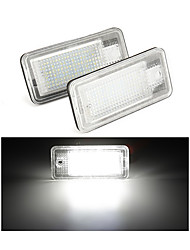 cheap -2Pcs Led Number License Plate Light Bulb Error Free Number Plate Lamp For Audi A4 A5 A6 C6 A3 S3 S4 S5 B6 B7 S6 A8 S8 Rs4 Q7