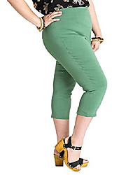 cheap -women tina 50s vintage retro style capri trousers 3/4 length pedal pushers - khaki (xs)