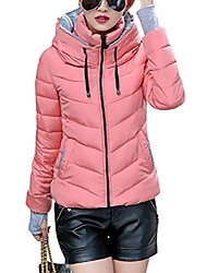 cheap -women's winter parka jacket warm stand collar cotton quilted down coat pink us 8-10