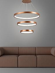 cheap -3-Light 40cm 60cm 80cm Circle Design Pendant Light Aluminum Circle Brushed LED Nordic Style 110-120V 220-240V