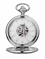 cheap -pocket watch unisex antique mechanical pocket watch punk mechanical skeleton pocket watch with chain as valentine's day unisex simple retro mechanical watch pocket watch with chain