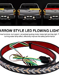 cheap -1pcs 1.2m Car Flexible LED Strip Light 12V 48inch 120cm Tailgate Light Bar Pickup Trailer Taillight Turn Signal Light Reverse Brake Light