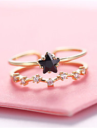 cheap -women's open ring 1pc silver platinum plated rose gold plated alloy fashion wedding party jewelry flower cute