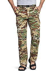 cheap -men's convertible cargo pants, water repellent hiking pants, zip off lightweight stretch upf 50  work outdoor pants, convertible cargo with belt(txp403) - utility camo, 34w x 32l