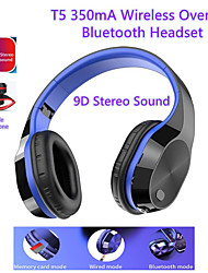 cheap -LITBest 5 Wireless Bluetooth Headset 350mA Over Ear 9D Stereo Sound Foldable Headphone Support Card/Bluetooth/Wired Connection Earphone