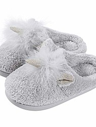cheap -kids unicorn house slippers for girls - cute fuzzy winter slippers (toddler/little kid), grey size 10.5-11