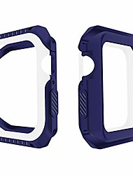 cheap -compatible with apple watch series 6 se 5 4 3 2 1 shatter-resistant bumper case works with apple watch 40mm (blue white, 40mm)