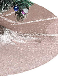 cheap -tree skirt, 48 inches champagne sequin christmas tree skirt