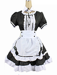 cheap -Maid Costume Adults Women's Cosplay Costume For Cotton Solid Colored Christmas Halloween Carnival Costume