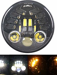 cheap -black 5.75inch 5-3/4 led motorcycle headlamp integrated turn signal for harley sportster street bob nightster 48 iron 883 xg750 xl1200 indian scout