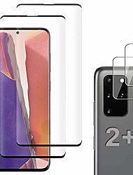 cheap -[2+2 pack] galaxy s20 plus screen protector include 2 pack tempered glass screen protector+2 pack tempered glass camera lens protector,5g,hd transparent,scratch-resistant for galaxy s20 plus