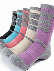 cheap -dearmy 5pack of women's multi performance cushioned athletics hiking crew socks | moisture wicking | year round (medium (shoe size 8-10 us), charcoal, cream, lavender, aruba, blush)