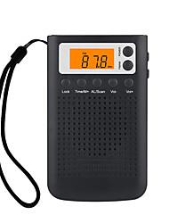 cheap -New Mini Radio Portable Stereo Pocket Radio Speaker With Built-in Speaker Headphone Jack AM FM Alarm Clock Radio