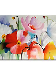 cheap -Mintura Large Size Hand Painted Flowers Oil Painting on Canvas Modern Abstract Wall Art Pictures For Home Decoration No Framed