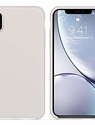cheap -for iphone xs max case, [silky and soft touch series] premium soft silicone rubber full-body protective bumper case compatible with iphone xs max 6.5 inch,(white stone)