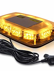 cheap -linkitom led strobe warning light -30 led high intensity emergency flashing lamps/hazard warning mini lighting bar/beacon/with magnetic base for car trailer roof safety (amber)