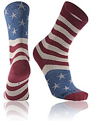 cheap -usa flag athletic socks,  stars & stripes usa american flag red blue and white mismatch soccer & football patriotic athletic socks