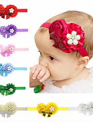 cheap -1pcs Toddler / Infant Girls' Sweet White / Blue / Red Solid Colored Bow Cotton Hair Accessories White / Blue / Purple One-Size