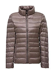 cheap -lightweight down jacket women womens down coats women's ultra light packable down jacket down filled coat stand collar quilted padded puffer jacket ladies bubble puffa jacket parka winter khaki