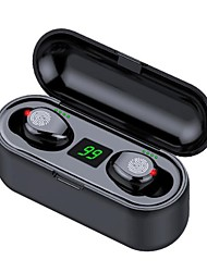 cheap -True Wireless Headphoens Bluetooth Earbuds V5.0 F9-8 TWS Wireless Bluetooth Headphone LED Display 2000mAh Charging Box Headsets With CVC8.0 Noise Reduction Microphone