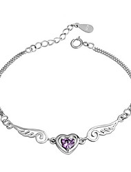 cheap -Men's Women's Bracelet Classic Star Fashion Silver-Plated Bracelet Jewelry White / Purple For Daily