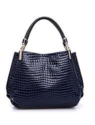 cheap -grebago women's crocodile handbag fashion shoulder diagonal bag (blue)