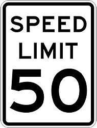 """cheap -new metal sign aluminum sign 50 mph speed limit signs for outdoor & indoor 12"""" x 8"""""""
